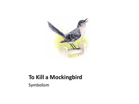 To Kill A Mockingbird Symbolism Essay