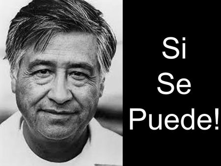 Si Se Puede!. Si, se puede! is Spanish for yes, it is possible. The UFW uses the translation: yes, it can be done. This slogan was coined by Cesar Chavez.