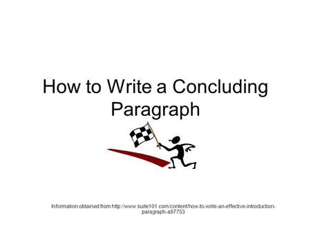 how to write an essay concluding statement
