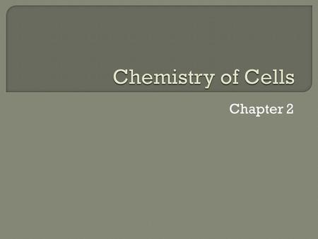 Chapter 2.  A compound is a substance that is made of two or more joined elements  Organic compounds contain carbon atoms(along with other elements)