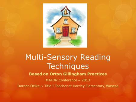 Multi-Sensory Reading Techniques