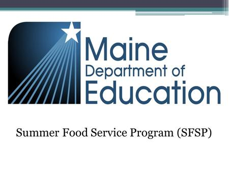 Summer Food Service Program (SFSP). Snack Must contain two components 1 milk 1 fruit/vegetable 1 grains/bread 1 meat/meat alternate.