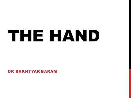 THE HAND DR BAKHTYAR BARAM. MALLET FINGER Results from injury to the extensor tendon of the terminal finger DIP joint The pt can not extend it active.