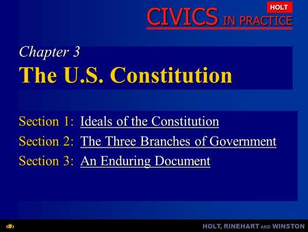 Chapter 3 The U.S. Constitution