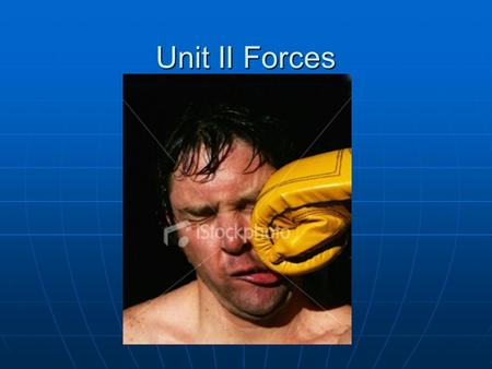 Unit II Forces. Force = a push or pull on an object measured in Newtons (N) 4 Ways Force Effects an Object 1.Increase v 2. Decrease v 3. Change Direction.