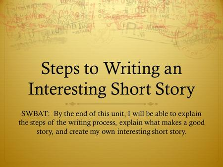 steps in writing term paper