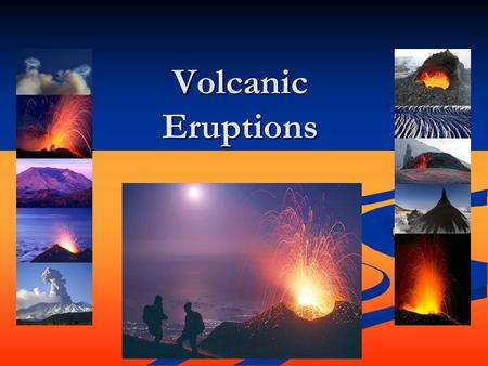 Volcanic Eruptions. Mt. St. Helen What is a volcano? A volcano is a vent or 'chimney' that connects molten rock (magma) from within the Earth's crust.