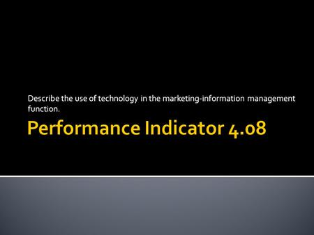 Performance Indicator 4.08