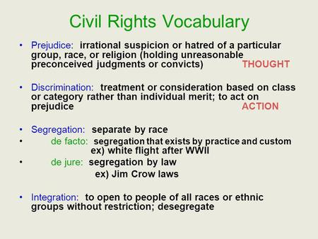 discrimination: racial segregation and religious group essay But this particular attitude, that outward racial discrimination is permissible because of a religious belief, seems extreme and dated these days, socially acceptable racism is a lot more subtle.