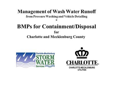 BMPs for Containment/Disposal