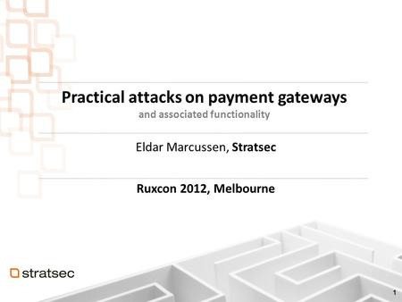 Agenda Introduction Payment gateways Weaknesses Attacks Conclusion.