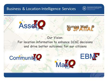Business & Location Intelligence Services Our Vision: For location information to enhance DCSI decisions and drive better outcomes for our citizens.
