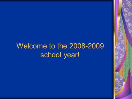 "Welcome to the 2008-2009 school year!. It's second period. You are in room 113. You may be thinking, ""Am I in the right place?"" If your schedule says."