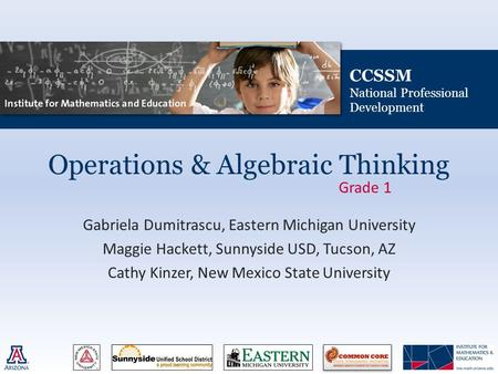 Operations & Algebraic Thinking