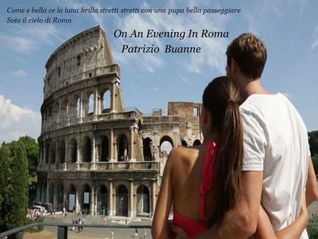 On An Evening In Roma Patrizio Buanne