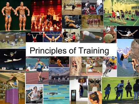 Principles of Training. For any training programme to improve an athletes performance, the coach, or the athlete themselves should follow some basic training.