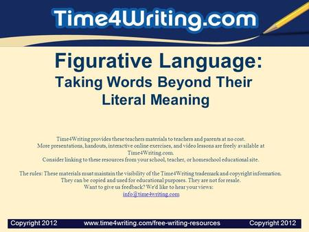 Figurative Language: Taking Words Beyond Their Literal Meaning