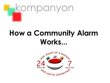 How a Community Alarm Works.... We provide you with a unit that acts as your link to us...