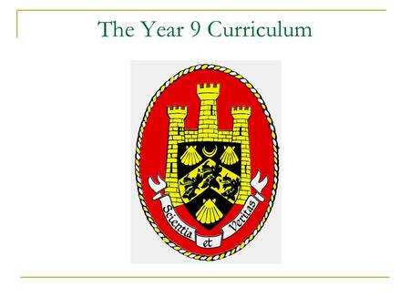 The Year 9 Curriculum. How is the curriculum organised? Working towards key stage 4 Art Design and Technology  Food and Nutrition, Graphic Products,