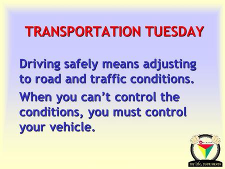 TRANSPORTATION TUESDAY