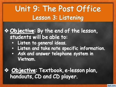 Content I. Warm-up II. Pre-listening III. While-listening IV. Post-listening - Game: Behind the numbers - Vocabulary - Questions - T/F statements -