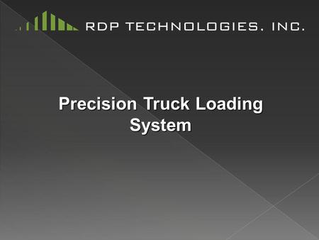 Precision Truck Loading System. We Give You The Power To Automatically Load Trucks, Cleanly and Accurately, With a Simple Device That's Easy To Maintain.