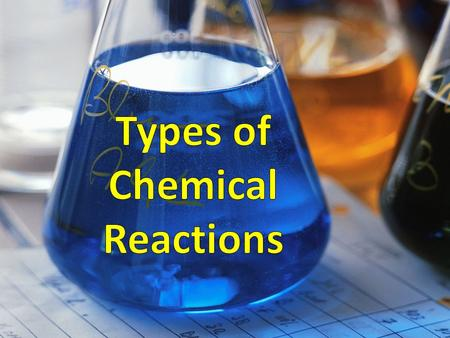 Five Types of Chemical Reactions Remember…a chemical reaction is when one compound is changed into a totally different compound. While there are millions.