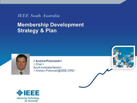 IEEE South Australia Membership Development Strategy & Plan South Australia Section photo.