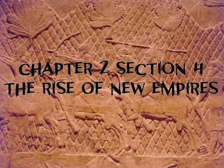 New Empire Semitic-speaking people who exploited the use of iron weapons to build an empire by 700 B.C. Semitic-Speaking Spoke Semitic language Included.
