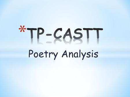 Poetry Analysis. * Ponder (think about) what you think the poem is about just from reading the title.