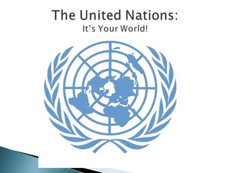 The United Nations: It's Your World!