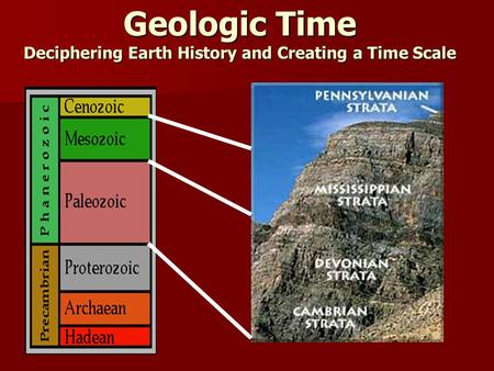 Geologic Time Deciphering Earth History and Creating a Time Scale.