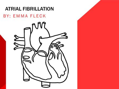 ATRIAL FIBRILLATION BY: EMMA FLECK. OBJECTIVES ♥ What is A-Fib? ♥ Types ♥ Risk factors ♥ Signs/symptoms ♥ Tests ♥ Treatment/medications ♥ Patient scenario.