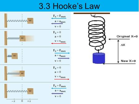 3.3 Hooke's Law. TODAY's OBJECTIVES To learn about how stretch or compression of a spring varies with gravitational force.