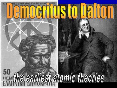 the earliest atomic theories