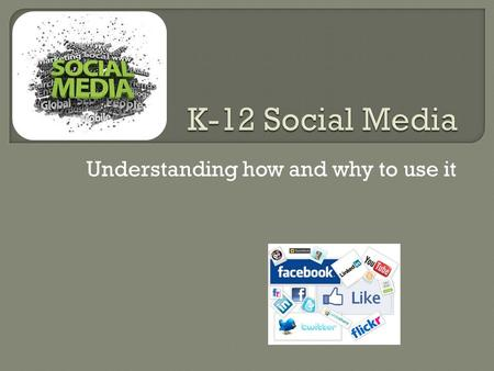 Understanding how and why to use it. PLAY VIDEO  Words  Pictures  Videos  Audio Social integration via technology.