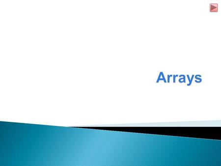  Arrays  Declaring and Creating Arrays  Examples using Arrays  Enhanced for Statement  Passing Array Methods  Multi Dimensional Array Topics.