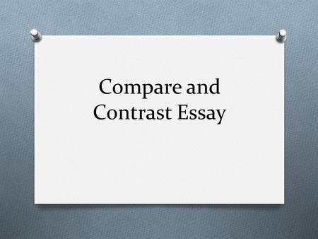 how to write a good thesis sentence where do you the thesis  compare and contrast essay