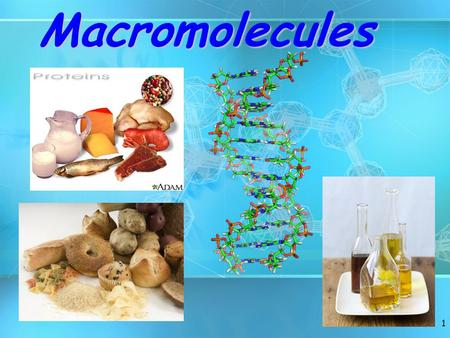 1Macromolecules. Molecules of Life Macromolecules organic molecules which are carbon-basedMacromolecules are large organic molecules which are carbon-based.