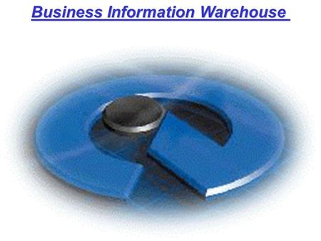 Business Information Warehouse Business Information Warehouse.