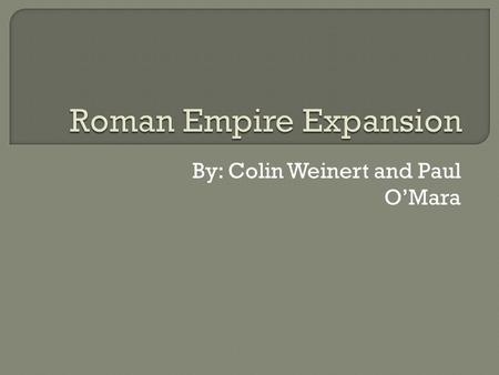 Roman Empire Expansion