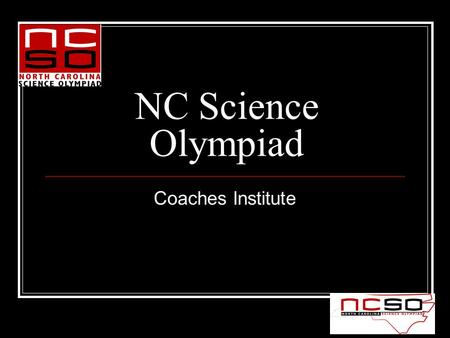 NC Science Olympiad Coaches Institute. Trajectory Division B & C.
