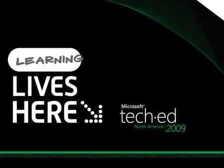 Tech·Ed North America /6/ :34 AM