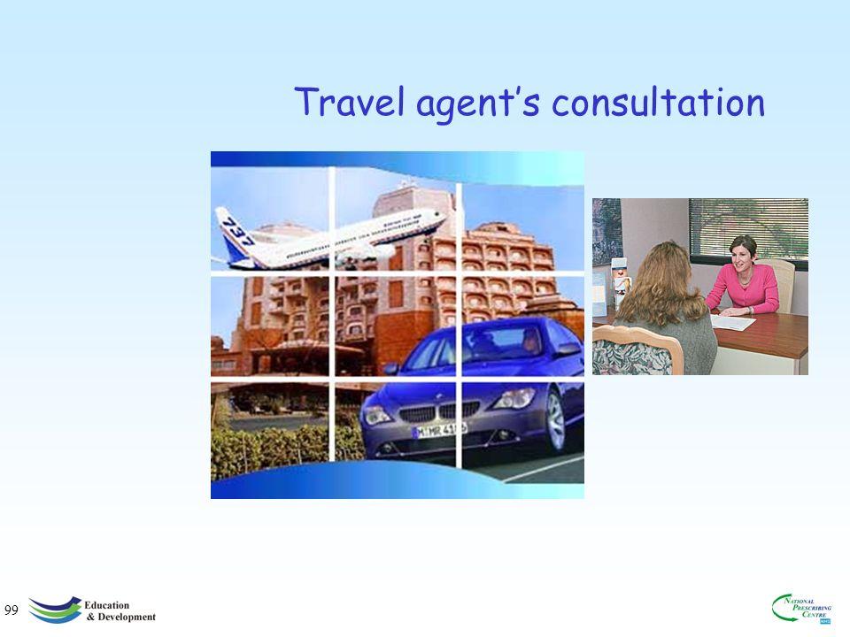 99 Travel agents consultation