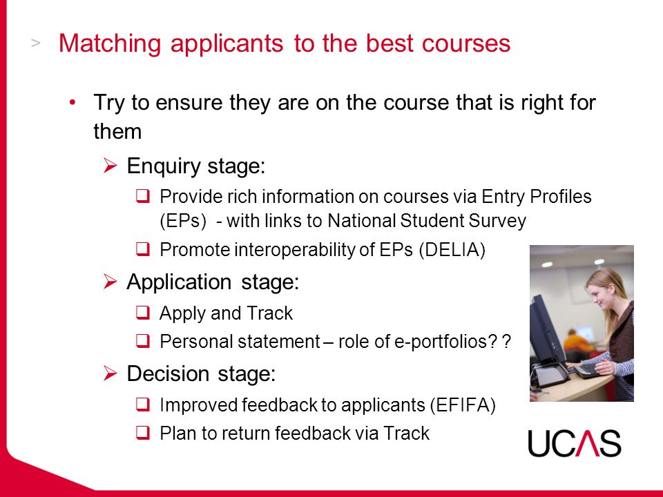 UCAS Entry Profiles – semi-structured information