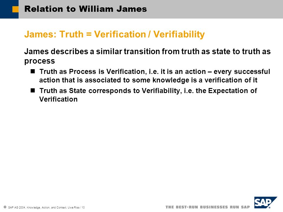 SAP AG 2004, Knowledge, Action, and Context, Uwe Riss / 11 Knowledge Management I Handling Knowledge Objects … is concerned with collecting and distributing… … … … information in repositories … enables people to act successfully in standard … … … contexts However, it is questionable whether this kind of knowledge transfer is very efficient Processing Knowledge Services … is concerned with supporting people in their actions … enables people to act successfully in the current.…(individual) context What does this mean in detail?