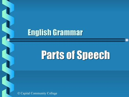 English Grammar Parts of Speech.