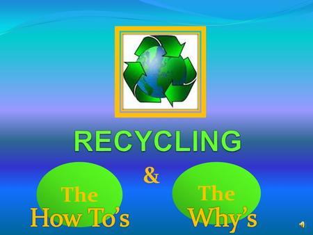 The & The items we currently recycle are: Newspaper Office paper Cardboard (anything that tears grey or brown ) Aluminum Cans Tin Food Cans Plastic bottles.