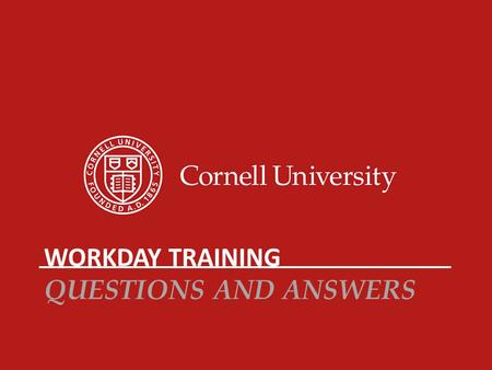 Workday Training Questions and Answers