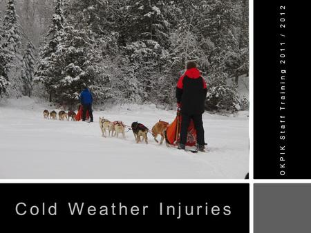 OKPIK Staff Training 2011 / 2012 Cold Weather Injuries.